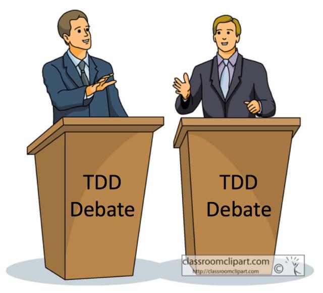 My takeaways from a TDD debate between Cope & Uncle Bob